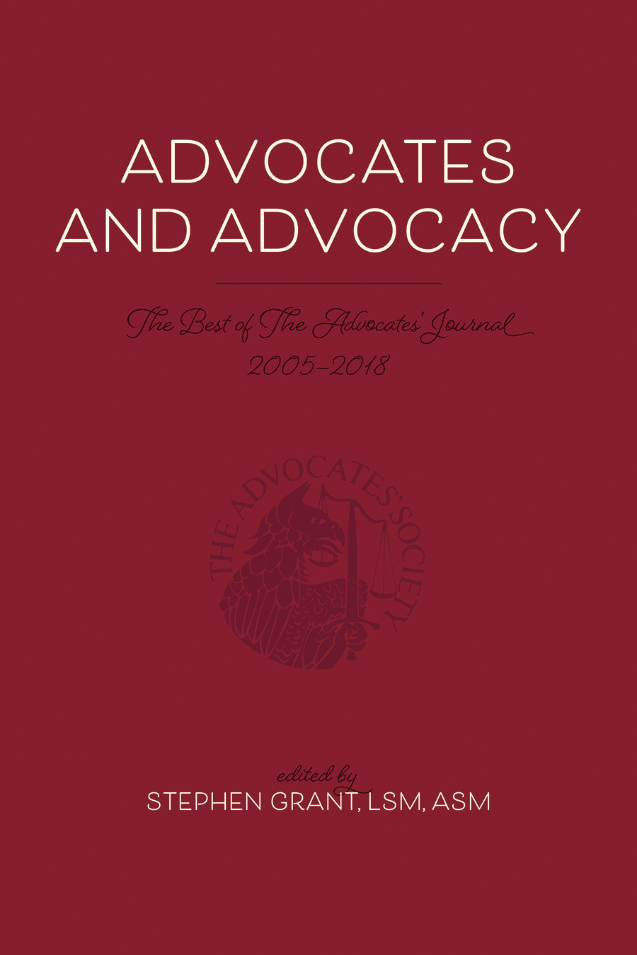 Advocates and Advocacy Cover